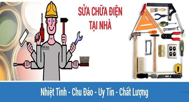 Thợ lắp đặt các thiết bị điện tại nhà